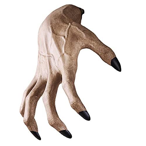 Marjory Estatua de bruja y mano horrible para interior de la pared, decoración de pared, resina artesanal, para el hogar, Halloween