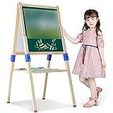 OSHA HJWMM Pizarra Magnetica Infantil, Caballete de Arte con Pizarra y Pizarra Magnética de Altura Ajustable, Juguete para Niños Niñas 3 4 5 6 (Size : 148x54cm)