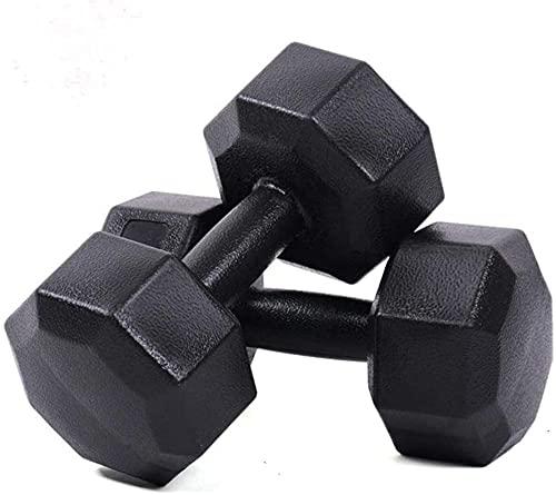 Formación Dumbbell Barbell Muscle Bodybuilding Fuerza Formación Transporte Octagonal Dumbbell Entrenamiento de Cuerpo Al Aire Libre Equipo de Aptitud Ejercicio (Tamaño: 2kg * 2)-1kg * 2