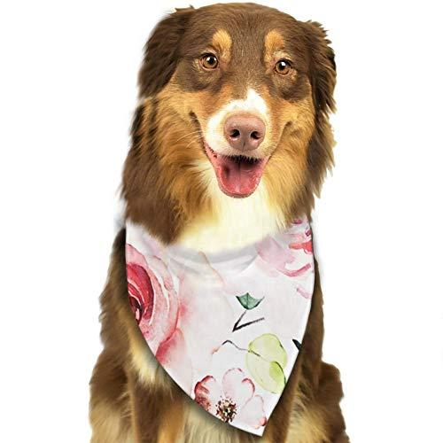 Bandana para Perro Botánico, Pañuelos para Perro, Reversibles, Ajustables, Triangulares, Bufandas para Mascotas y Gatos, Regalos Cumpleanos