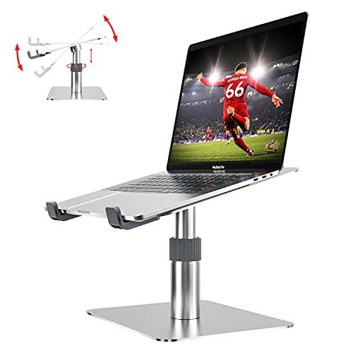 Newaner Supporto PC Portatile Alluminio, Altezza Angolo regolabile, Girevole a 360°, compatibile con Notebook(10-16pollici) incluso MacBook Pro Air Surface Lenovo Hp Asus Acer Dell MSI Samsung HUAWEI