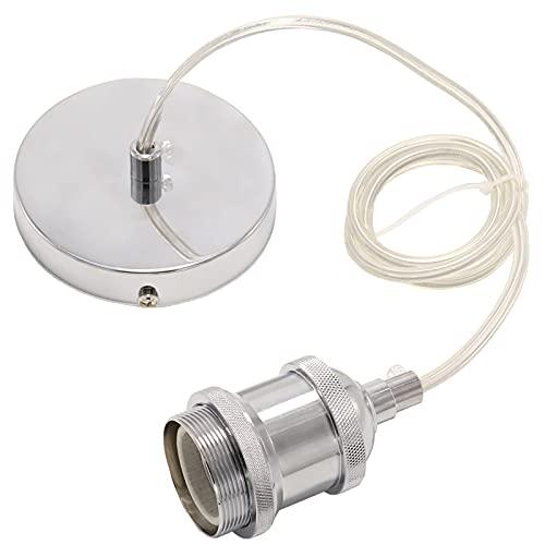 Soporte Lampara Techo 1M Cable Ajustable Metal Lamparas Techo Colgantes Apto Para Cocina Dormitorio Comedor-Negro