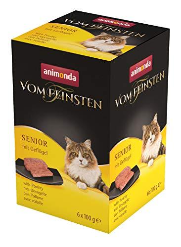 animonda Vom Feinsten Senior Nassfutter, für ältere Katzen ab 7 Jahren, mit Geflügel, 6 x 100 g