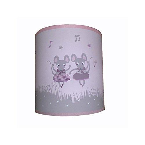 LILI - Lámpara de techo con diseño de ratón, color lila, diámetro 30 cm