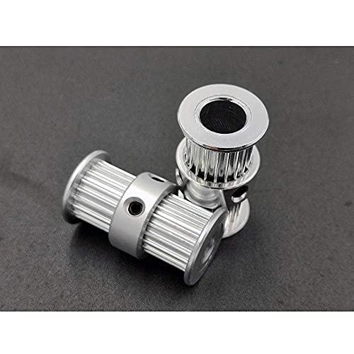 JRUIAN Accesorios de Impresora GT2 Polea síncrona de Doble Cabezal 2GT-20 Rueda de transmisión de Engranajes Agujero Interior 5 mm 8 mm Correa de distribución Impresora 3D Piezas de Impresora