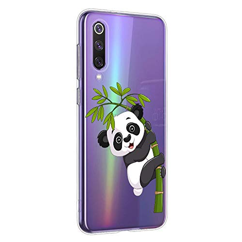 Oihxse Silicone Crystal Coque pour Xiaomi Mi Max 2 Ultra-Thin Transparente Gel TPU Souple Etui Design Motif Mignon Panda Protection Antichoc Housse Bu