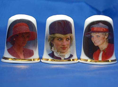 Birchcroft Porcelain China Collectible - Set of Three Thimbles -