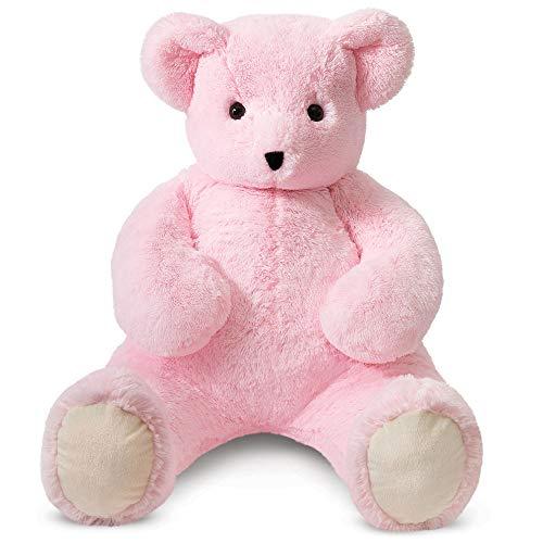 Vermont Teddy Bear Big Bear - Huge Stuffed Animals, 4 Foot, Pink, Cuddle