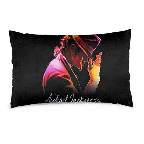 Scroll sport Michael Jackson Pillowcase Throw Pillow Cover 20x30 Zippered Pillow Case Two Sides Picture Printed Soft Cotton Comfortable(MJ-2)