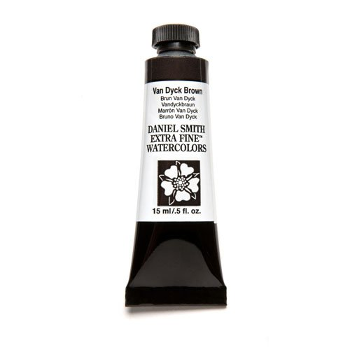 DANIEL SMITH Extra Fine Watercolor 15ml Paint Tube, Van Dyke Brown
