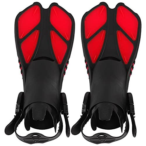 minifinker Pinne da Immersione Lunghe, Pinne da Nuoto con Design Convesso Morbido Antiscivolo per Immersioni Lunghe per Il Nuoto