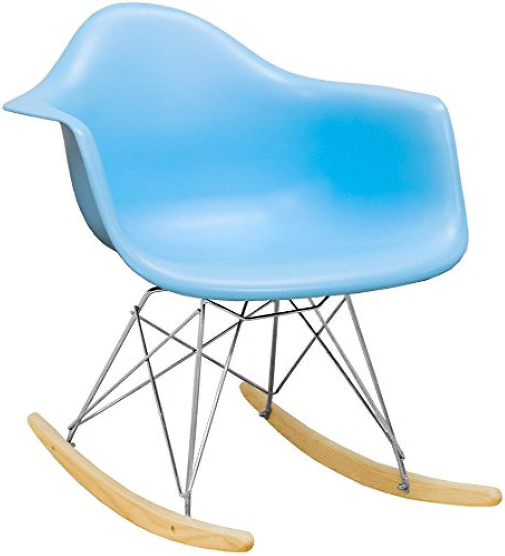 Mod Made Mid Century Modern Paris Tower Rocker Rocking Chair, bluee
