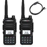 Radioddity GM-30 GMRS Handheld Radio 2PCS + Radioddity RD-201 USB 2-Pin K-Plug Programming Cable
