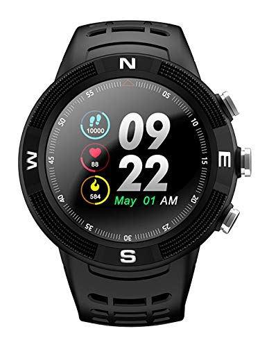 OPTA SB-119 Plastic Ceres Fitness Watch with Triple GPS Positioning | Long Battery Life | Ip68 Grade Outdoor Fitness Device| All Day Heart Rate and Activity Tracking Smart Band, Large (Black)