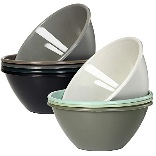 Youngever 32 ounce Plastic Bowls, Large Cereal Bowls, Large Soup...