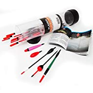 FLADEN Fishing - 25 Piece Assorted LAKE and RIVER Coarse Fishing Floats Collection in a Float Tube - Come with a handy fishing guide giving useful tips and advise ASSORTED FLOATS - A float for every day you go fishing a selection to cover most types ...