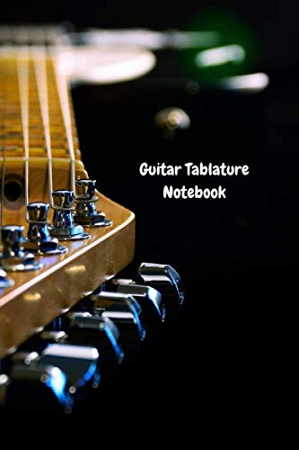 Guitar Tablature Notebook - 50 White Pages - Glossy Cover: 9' x 6' Blank Guitarist's Tablature Book   Blank Guitar Tab Paper with Chords   Express Your Creativity    GT03
