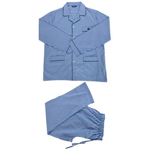 Guasch - Pijama Abierto de Tela Azul M