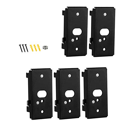Bedycoon 5 pcs Replacement Wall Mounting Bracket Compatible with Bose SlideConnect WB-50 - Black (UFS-20),Lifestyle 525 535 III,Lifestyle 600,soundtouch 300 soundtouch 520,CineMate 520 Wall Bracket