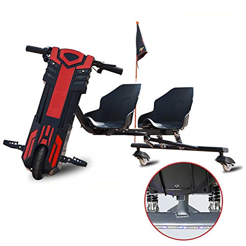 FLy 360 Vehículo Eléctrico Mini Coche Eléctrico De Deriva Drift-Trike Diseño De Amortiguación De Muelle Doble Trasero Añadido Modo De Doble Asiento Adecuado para Que Padre E Hijo Viajen Juntos