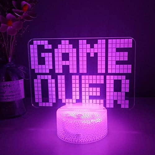 Lámparas de mesa, lámpara de noche 3D, configuración de escritorio, decoración de iluminación en la consola de juegos de mesa, icono de logotipo, regalo de cabecera para niños