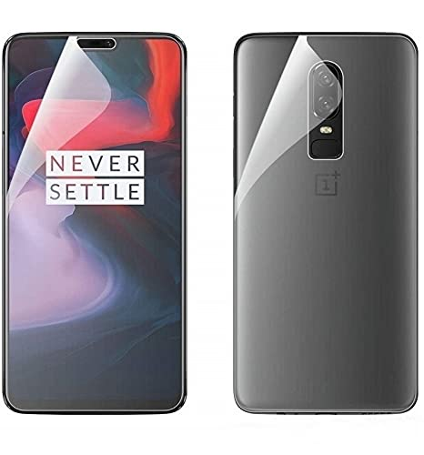 Blue Blood® 360° Buff Guard [Front + Back + Camera Lens] [Not Tempered Glass] Full Body Coverege Screen Protector for OnePlus 6T − List 1100