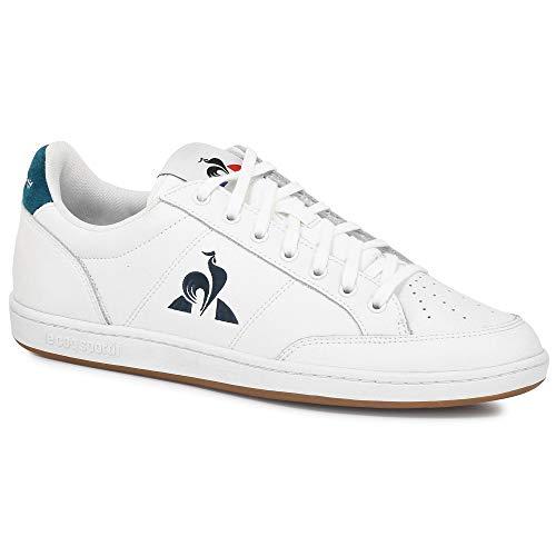 Le Coq Sportif Unisex-Erwachsene Court Clay Sneaker, Optische Weiße/Schattierte Fichte, 45 EU