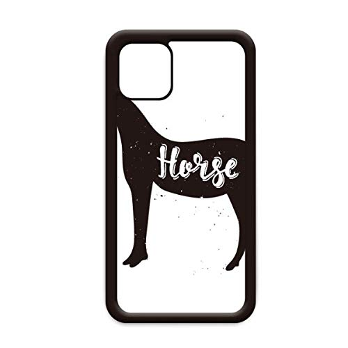 Paard zwart en wit dier voor Apple iPhone 11 Pro Max Cover Apple mobiele telefoonhoesje Shell, for iPhone11