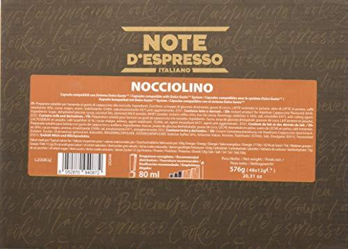 Note d'Espresso Cápsulas de café instantáneo de avellana Compatible exclusivamente con máquinas de cápsulas Dolce Gusto * 48 x 12 g, paquete de 48