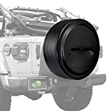 Boomerang - 32' Rigid JL Tire Cover (Plastic Face & Vinyl Band) for Jeep Wrangler JL (with Back-up Camera) - (2018-2020) - Black Textured
