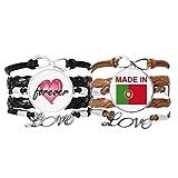 Bestchong Made in Portugal Country Love Armband Handschlaufe Leder Seil Forever Love Armband Doppelset