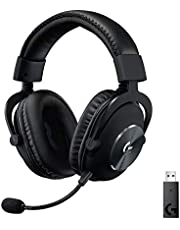 Logitech G PRO X LIGHTSPEED kabelloses Gaming-Headset mit Blue VO!CE Mikrofon, 50mm PRO-G Lautsprecher, DTS Headphone: X 2.0 Surround Sound für Esport Gaming, 20+ Stunden Akkulaufzeit, PC/Mac, Schwarz