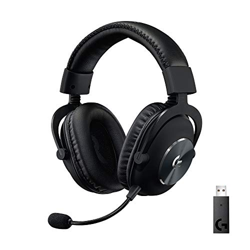 Logitech G PRO X kabelloses, PC-kompatibles Gaming-Headset mit Blue VO!CE Mikrofontechnologie, 50 mm PRO-G Lautsprecher, DTS Headphone:X 2.0 Surround Sound, Memory-Foam-Polsterung