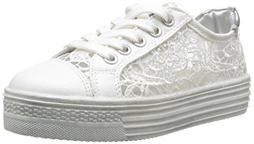Asso 45800, Baskets Basses Fille, Blanc (White), 35 EU