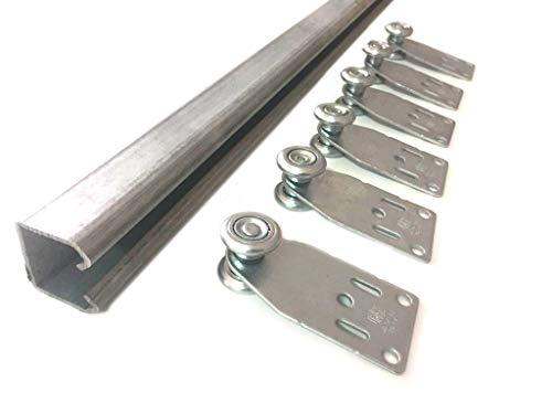 Tendaggimania, Vorhangschiene aus verzinktem Eisen, MR3, komplett mit Schiebetüren für PVC-Gewebe, Dachterassen, Pavillons, verschiedene Größen L. 250 CM