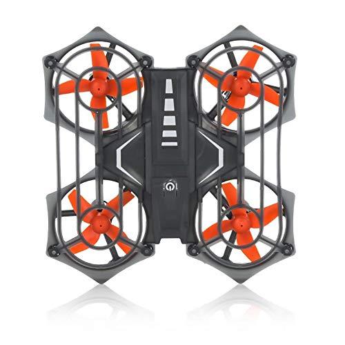 Amyove Faltbare Drohne RH817 2,4G Mini RC Drohne Quadcopter Infrarot Interaktive Sensing RC Quadcopter Headless Höhe Halten Drone Hubschrauber Spielzeug Gelb
