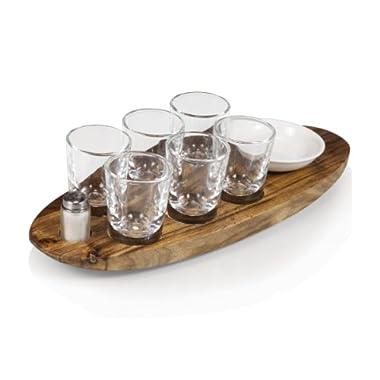 Picnic Time Cantinero 6-Shot Glass Serving Set
