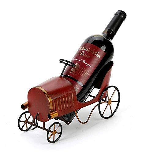 XUSHEN-HU Europea Classic Car Styling la personalidad creativa del estante del vino retro viejo país de escritorio Porche decoración estante del vino Sala Restaurante Bar decoración elegante y hermosa
