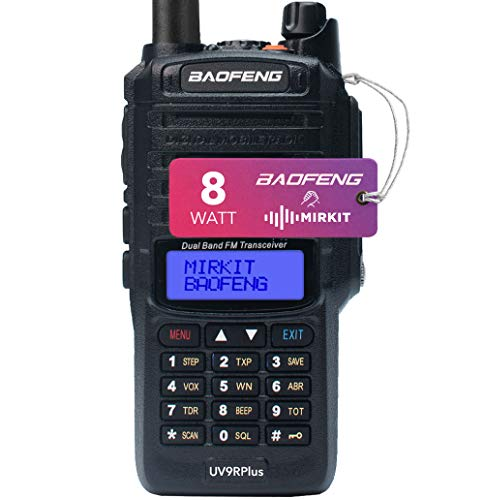 Mirkit Waterproof Baofeng Radio UV-9R Plus MK1 8W Ham Radio Handheld &2200mAh Battery, IP67 Portable Radio: Dust, Cold & Waterproof Radio with Hard Case IP67, Mirkit Edition 2020