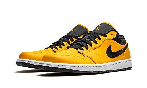 Jordan Zapatillas Hombre Nike Air 1 Low University Gold 553558-700, (University Gold/Negro-blanco), 43 EU