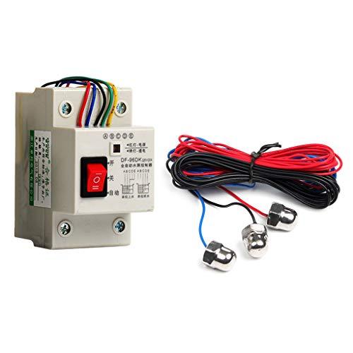 Rtengtunn Controlador automático de Nivel de Agua con Interruptor, DF-96D Controlador automático de Nivel de Agua Sonda de Sensor de 3 m Sensor de Bomba de Agua Tanque Interruptor Detector