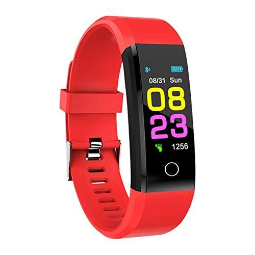 LZW Smart Bluetooth Sport Armband Fitness Tracker-Farbdisplay wasserdichte Intelligente Uhr Für Ios Android,Rot