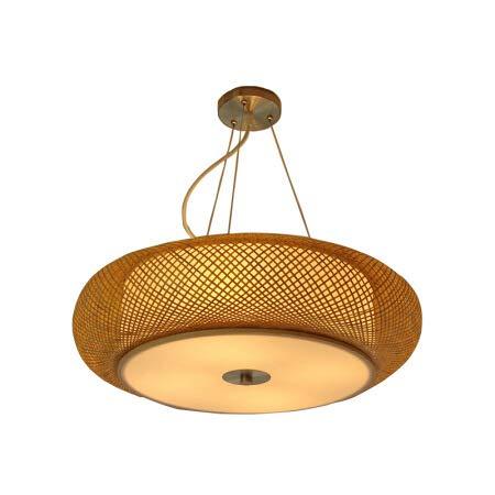 Smotly Lampadario Vimini,Bamboo Art Bamboo lampadario Vintage Ristorante corridoio Soggiorno Sala da tè plafoniera soffitto lampadario Giapponese,Chandelier,60CM