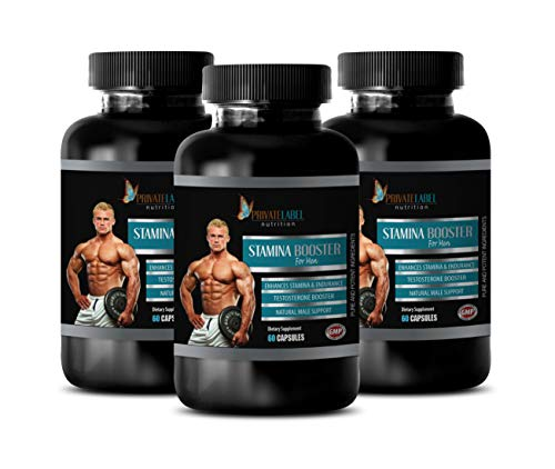Performance Supplements for Men - Best Male Weight Loss Supplement - Stamina Booster for Men - Natural Male Support - Horny Goat Weed Extract with maca - 3 Bottles 180 Capsules