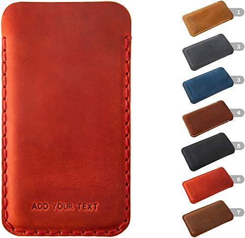 Funda De Cuero Para Essential Phone Personalizada Caja De Regalo Funda Bolsa Nombre o Iniciales Grabadas, cualquier Tamaño Personalizado Disponible