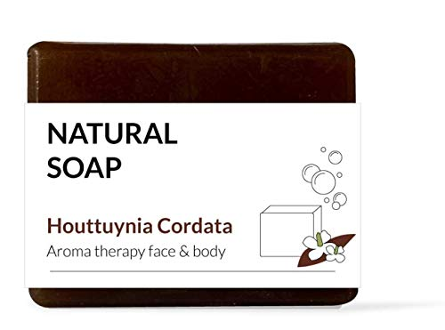 Pureforet Natural Huttuynia Cordata Soap Handmade Natural All in One Bar Soap Moisturizingfor Dry Skin