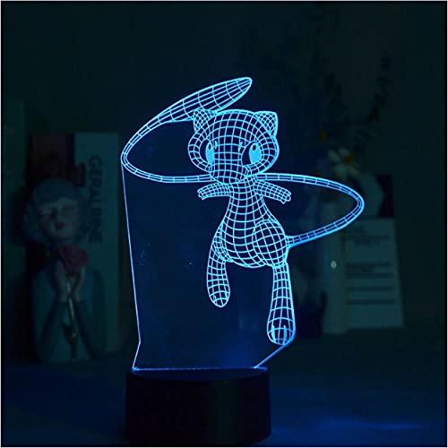 Focos Led 3D Zorro De Cola Larga Linterna De Luz Nocturna Para Niños Decoración De Dormitorio Joven Interruptor Atmósfera
