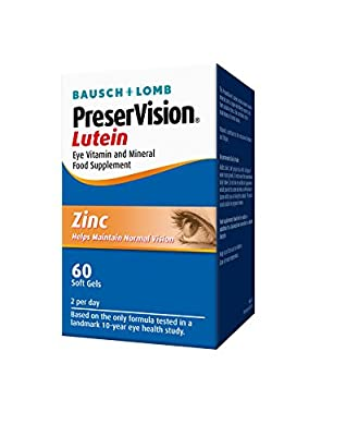 Bausch + Lomb Preservision Lutein Soft Gel, 60 Capsules