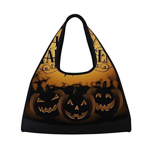 DragonSwordlinsu COOSUN Vintage Happy Halloween Bolsa de hombro práctica bolsa de deporte bolsa de deporte bolsa de raqueta de tenis para hombres y mujeres