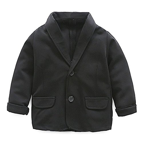 Little Kids Boys Girls Casual Fashion Blazers Jackets Coat Suit Outerwear 2-3 Years Black